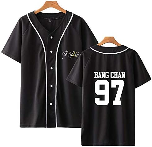 Stray Kids T-shirt KPOP Yellow Wood krÓtki rękaw Changbin Hyunjin Felix Seungmin Jeongin Jisung Minho Woojin BangChan Baseballuniform T-Shirt letnia sukienka Tshirt Casual Fashion mężczyźni i kobiety:
