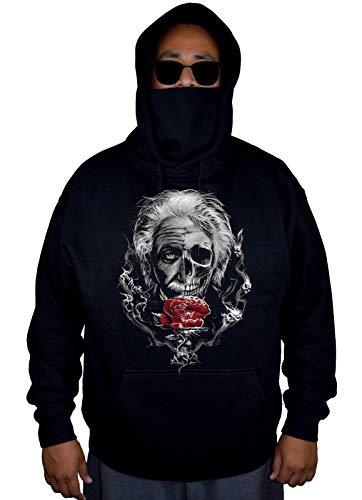 Men's Albert Einstein Brain Black Mask Hoodie Sweater X-Large for $<!--$27.99-->