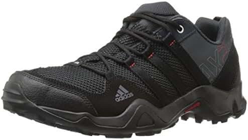 adidas Outdoor Men's Ax2 Hiking Shoe, Dark Shale/Black/Light Scarlet, 10 M US