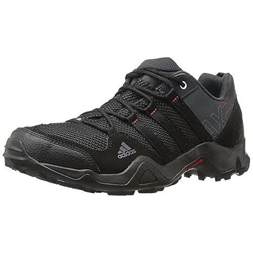adidas Outdoor Men\u0027s Ax2 Hiking Shoe, Dark Shale/Black/Light Scarlet, 10 M  US