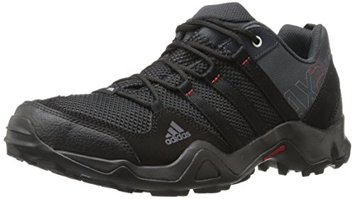 adidas outdoor Men's AX2 Hiking Shoe Dark Shale/Black/Light Scarlet 9.5 M - Shoes Army Adidas