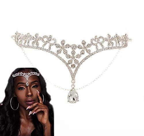 Headpiece Crown, Tiara, BELLA VOGUE Crystal Rhinestone Jewelry Headdress Headband for Bridal Wedding Engagement ()