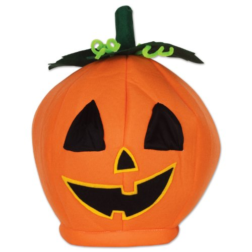 Beistle 00712 Plush Pumpkin Head Hat