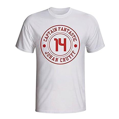 Johan Cruyff Ajax Captain Fantastic T-shirt (white) UKSoccershop
