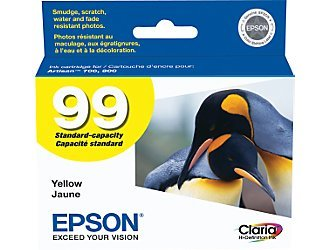 Epson T099420 OEM Ink - (99) Artisan 700 710 725 730 800 810 835 837 Claria Hi-Definition Yellow Ink