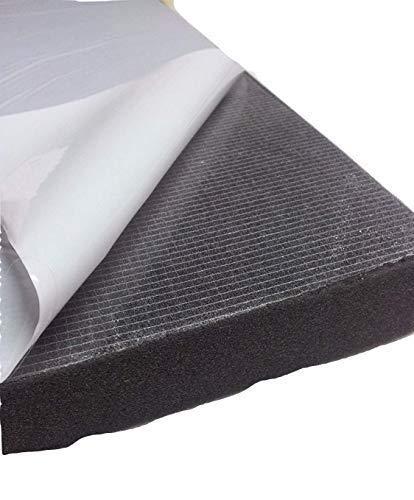 4 Stk Glatt Schaumstoff Selbstklebend D/ämmung Schallschutz 100x50x4,Anth//Schwarz