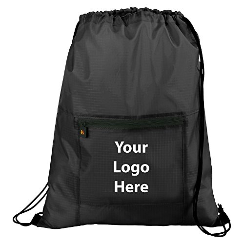 Bright Travels Packable Drawstring Sportspack - 96 Quantity - $5.75 Each - PROMOTIONAL PRODUCT / BULK / BRANDED with YOUR LOGO / CUSTOMIZED by Sunrise Identity