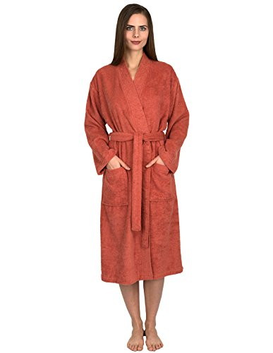 TowelSelections Women's Robe Turkish Cotton Terry Kimono Bathrobe X-Large/XX-Large Ginger Spice -