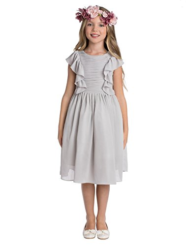 Paisley of London, Elsa Gray Occasion Dress, Formal Flower Girls Dress, 5-6 Years -