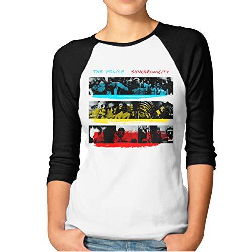 CAOI UUC Womens The Police Synchronicity Comfortable 3/4 Sleeve Raglan Tshirt Black