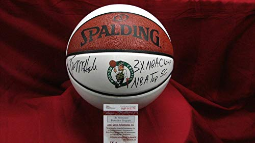 Kevin Mchale Autographed Signed Memorabilia Celtics Logo Basketball With 2 Inscriptions - JSA ()