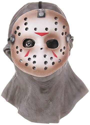 Rubie's Adult Jason Overhead Latex Deluxe Mask with Removable PVC Hockey Mask - Multicolored - One -