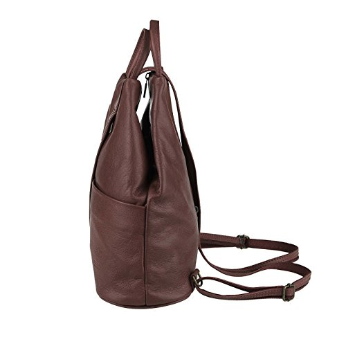 OBC Only-Beautiful-Couture - Bolso mochila  para mujer marrón marrón chocolate ca. 25x30x11 cm (BxHxT) marrón chocolate