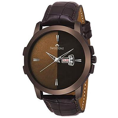 SWISSTONE Analogue Men's Watch ( Brown Dial & Strap )