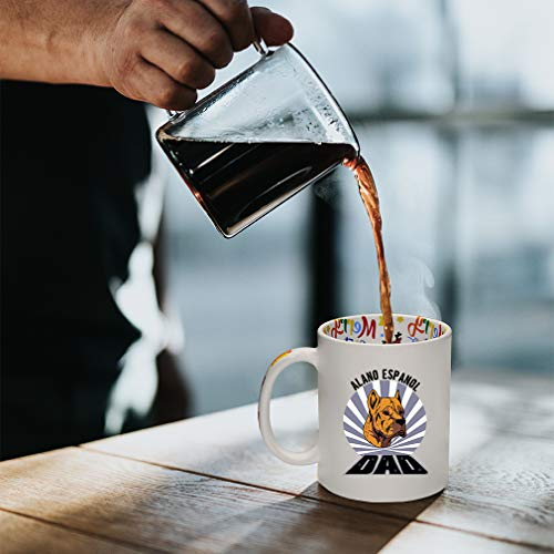Ceramic Christmas Coffee Mug Dad Alano Espanol Dog Funny Tea Cup 9