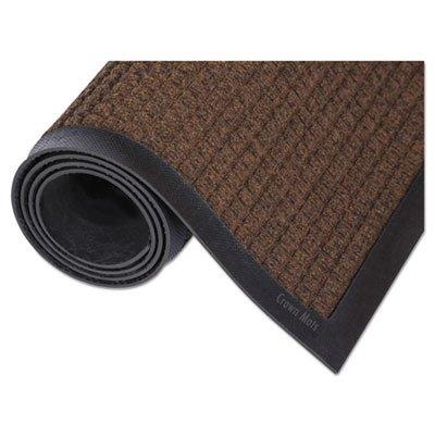 Super-Soaker Wiper Mat w/Gripper Bottom, Polypropyl, 45'''' x 68'''', Dark Brown, Sold as 1 Each
