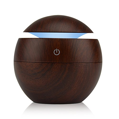 KBAYBO Humidifier Aroma Essential Oil Diffuser, 130ml Ultrasonic Cool Mist Humidifier with LED Night Light For Office Home Bedroom Living Room Study Yoga Spa (Dark (K-mat Ultra Kitchen Mat)