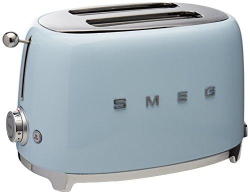 Smeg TSF01PBUS 50's Retro Style Aesthetic 2-Slice Toaster