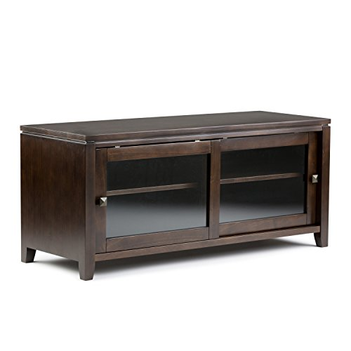 Simpli Home Cosmopolitan Solid Wood Stand for TV's up to 52-Inch, Coffee Brown
