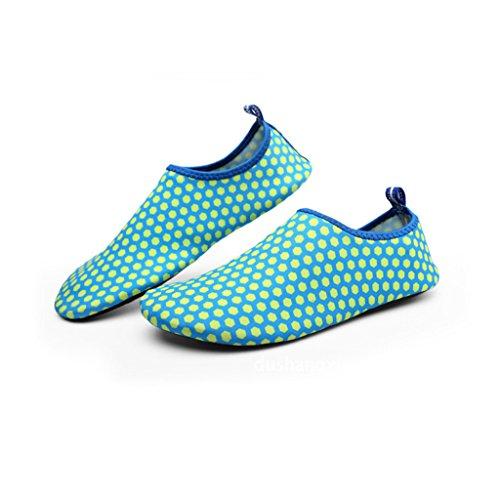 Eagsouni® Zapatos Deportivos de Agua Aguamarina Descalzo para Natación Playa Surf Buceo Shoes Aqua Calcetines #4Azul