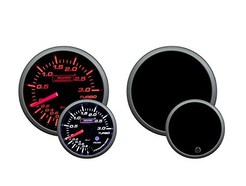 Metric 3 BAR Boost Gauge- Electrical Amber/white Premium Series with Peak Recall and Warning 52mm (2 (Metric Boost)