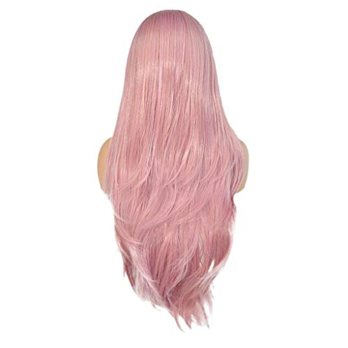 Willsa Fashion Charm Curly Wig Glueless Full Lace Wigs Pink Women Indian Remy Human Hair Lace -