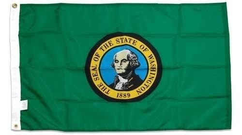 ALBATROS State of Washington 4ftx6ft Foot Flag Banner (Heavy Duty 150D Super Polyester) for Home and Parades, Official Party, All Weather Indoors Outdoors ()