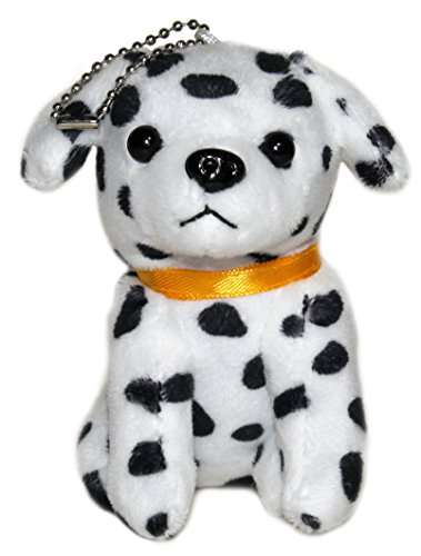Lucore 4 Inch Dalmatian Puppy Dog Plush Stuffed Animal Toy Keychain - Hanging Doll Lucky Charm