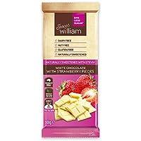 Sweet William White Chocolate Bar with Strawberry 100 g