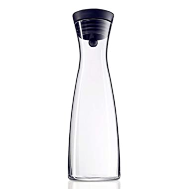 60 Ounces Borosilicate Glass Pitcher with Lid, Water Carafe Jug for Hot/Cold Water, Ice Tea and Juice Beverage