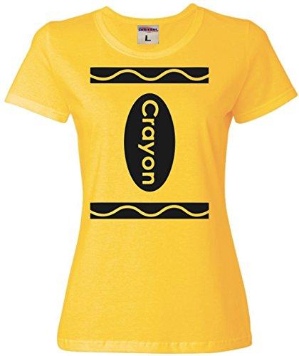 Medium Yellow Womens Crayon Costume T-Shirt