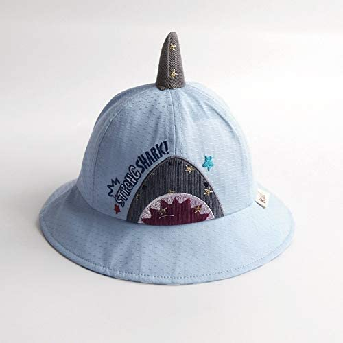 Blue ZHAONAA Child outdoor leisure hat Boys And Girls Childrens Cartoon Spring And Summer Sun Hat Child Sun Hat Color Size 46-49cm Best