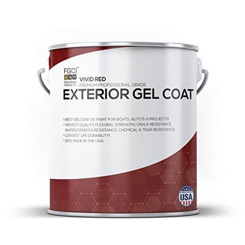 (Vivid RED Boat Paint, Exterior Gel Coat KIT, 1 Quart W/ 1 OZ MEKP, Fiberglass Coatings, Inc, Professional Marine GELCOAT Specialists, Boat Exterior Hulls, Boat Interior Decking, DIY Projects)
