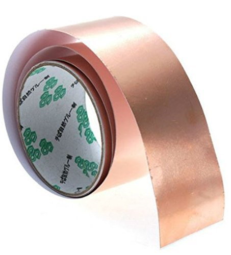 [Copper Foil Tape EMI Shielding for Fender Guitars 3 ft X 2 by Completestore] (Tin Foil Robot Costume)