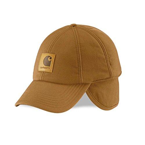 Carhartt Men's Workflex Ear Flap Cap,Carhartt Brown,Medium/Large (Earflap Hats For Men)