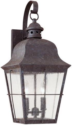 Sea Gull Lighting 8463-46 Chatham Two Light Outdoor Wall Lantern, Oxidized Bronze