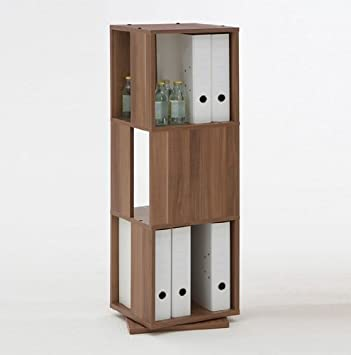 OFFICE STORAGE TOWER: Revolving Three Tier Bookcase / Filing / File Storage  Unit Cabinet