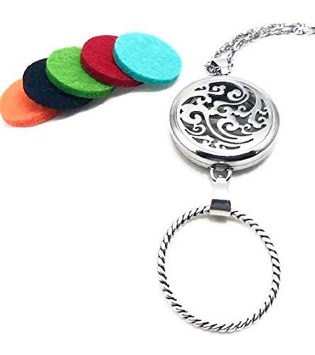 Pet Studio Key Rings - Pizazz Studios Aromatherapy Locket Eyeglass Holder Necklace - Wave