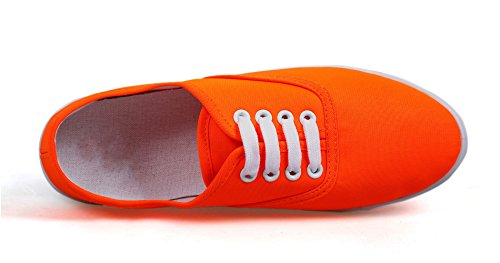 Venezcelia Womens Champion Toile Originale Sneaker Orange / Mandarine