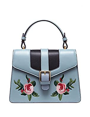 Vintage & Retro Handbags, Purses, Wallets, Bags LAFESTIN Womens Crossbody Handbags Embroidered Retro Shoulder Bag Leather $67.90 AT vintagedancer.com