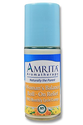 A Woman's Balance Roll-On Relief (Natural Period Relief) by Amrita Aromatherapy with Therapeutic Grade Essential Oils of Bergamot, Clary Sage, Roman Chamomile,& Geranium Rose (SIZE: 30ml) by Amrita