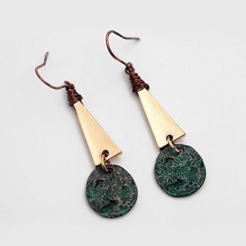 Injoy Jewelry Women Vintage Retro Dangle Earring Handmade Antique Drop Earrings