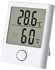 Comter Termómetro Digital Higrómetro de Interior, Mini Termómetro Higrómetro Interior, Monitor de Temperatura y Humedad con Pantalla LCD para la Comodidad de los Viveros de la Oficina et Casa (Blanco)
