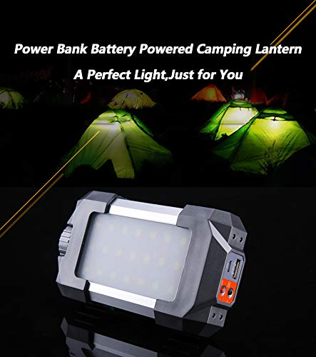 Battery Powered Camping Lantern Portable Emergency Lights 6000mAh Power Bank 27 LEDs SOS Lights for Outdoor Hiking Fishing Tent Garden