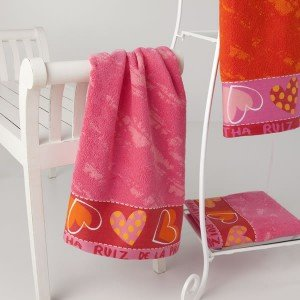 Agatha Ruiz De La Prada - Juego de toallas arta 3 piezas, color naranja