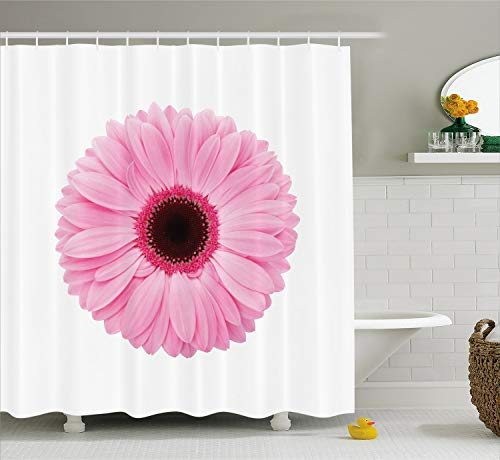 Used, Ambesonne Pink and White Shower Curtain, Fresh Gerber for sale  Delivered anywhere in USA