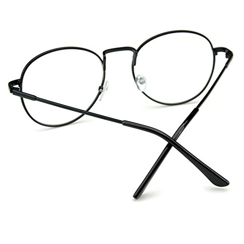 7b21d9e15b1 PenSee Oval Classic Retro Metal Frame Clear Lens Round Circle Eye Glasses
