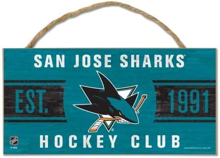 "B014WIM756 WinCraft NHL San Jose Sharks WCR38255014 Wood Sign with Rope, 5"" x 10\"" 41zwXZOvCGL"
