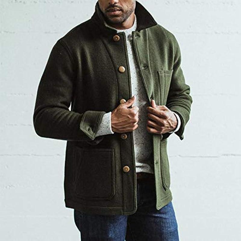 oneforus luźna kurtka wełniana, męska, jednokolorowa, kardigan: Odzież