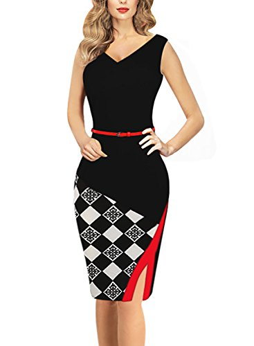 Oxiuly Womens Patchwork Stretch Formal product image